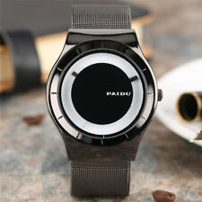 PAIDU Wrist Watch Men Boy Analog Quartz Stainless Steel Band Round Dial Bracelet
