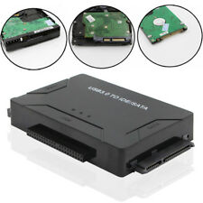 """USB3.0 To 2.5"""" 3.5"""" SATA IDE HDD Hard Drive Adapter Converter + Power Cable"""