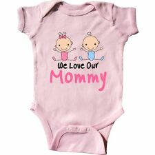 Inktastic Girl And Boy Twins Love Mommy Infant Creeper Twin Baby Shower Pink Hws
