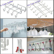 CHROME UNDER SHELF RACK KITCHEN CABINET STORAGE HOLDER HANGER STAND ORGANIZER
