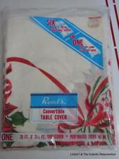 Vintage Paper Christmas Tablecloth Reed's Convertible Table Cover 20' Long NIP