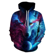 Wolf Printed Hoodies Men 3D  S-6XL Male Hooded Jacket choose size/color