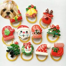Pet dogs Xmas resin hair rope rubber bands puppy chirstmas grooming accessories