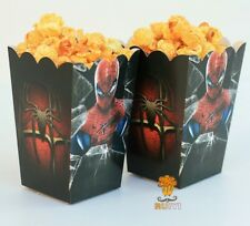 SPIDERMAN LOOT POPCORN BOX KIDS PARTY FAVOURS MOVIE NIGHT PICNIC SPIDER-MAN