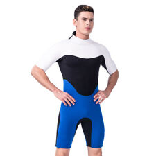 Mens Neoprene Wetsuit Short One Piece Swimming Scuba Diving Surfing Wetsuit