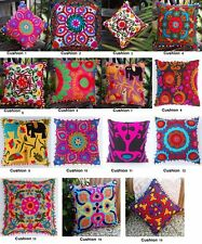 Indian Ethnic Suzani Pillow Cases Hand Embroidered Cotton Cushion Cover Decor