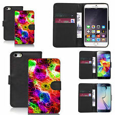black pu leather wallet case cover for many Mobile phones - design ref zx0985