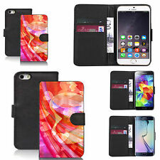 black pu leather wallet case cover for many Mobile phones - design ref zx1524