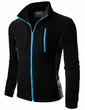 Doublju Mens Zipper Colorblock Lightweight Fleece Jacket - Choose SZ/Color