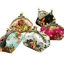 Floral Women Wallets And Purses Mini Lady Wallet Coin Bag Vintage Hasp Clutch