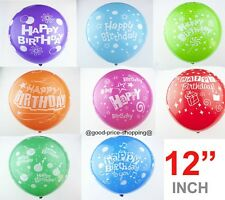 "12"" Latex Mix Colour Happy Birthday Balloons Birthday party decorations baloons"
