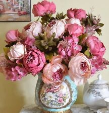 Wedding Home Party Decoration 1 Bouquet Artificial Flowers Fall Vivid Peony