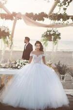 White/Ivory Wedding Dress Bridal Gown Custom Stock Size: 6 8 10 12 14 16 18  XGW