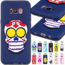 For Samsung Galaxy S8 TPU Rubber Silicone Gel Shockproof Soft Case 3D Skin Cover