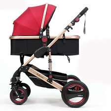 Luxury Baby Stroller high view Carriage Infant Travel Foldable Pram Pushchair