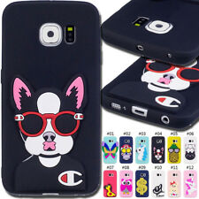 For Samsung Galaxy S6 edge TPU Silicone Rubber 3D Gel Soft Skin Back Cover Case