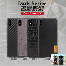 For iPhone X G-Case Carbon Fiber Slim Leather Phone Case Back Cover Shockproof