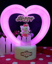 HelloKitty Heart Led Light cartoon Desktop lamp nightlight Lamp Beds USB lyo-35