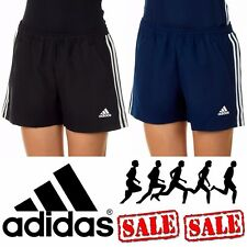 adidas 3 Stripe T16 Climacool Ladies Gym Short Womens Running Eco Shorts UK Size