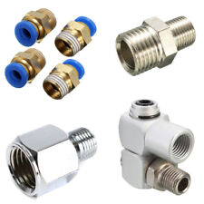 1/4''BSP Male/ Female to 1/8'' BSP Airbrush Hose Connector Adapter Air Compresso