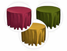 "5 PACKS 90"" inch Round SATIN Tablecloth WEDDING 25 COLORS table cover USA SALE"