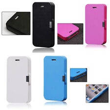 Magnetic Flip Leather Hard Skin Pouch Wallet Case Cover For Apple iPhone 5 5S 5G