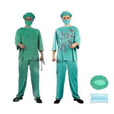 Horror Bloody Doctor Costume Halloween Party Outfit Hat Mask Fancy Dress Up Set