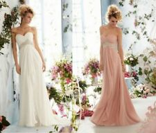 New Chiffon Bridal Gown Wedding Evening Bridesmaids Dress 6 8 10 12 14 16 18