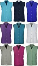 Women's Ladies New Quality Ribbed Knitted Pocket Waistcoat Sleeveless Cardigan