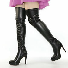 Sexy Womens Thigh High Boots Platform Stiletto High Heels Over Knee Winter Boots