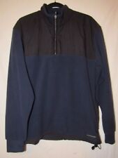 Nike Therma Fit Navy Blue Black Fleece Pullover Jacket   Sz. M