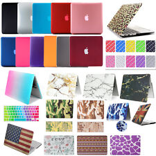 "Hard Rubberized Macbook Case + Keyboard Cover For Air Pro Retina 11"" 12"" 13"" 15"""