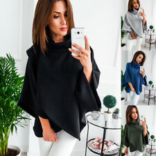 Long Sleeve Hoodies Sweatshirt Women High Neck Cape Sweater Pullover Tops Coat