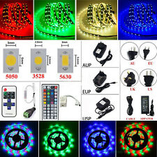 5M 10M 300 LED Flexible Strip Light SMD 3528 5050 5630 + Remote + Power Supply