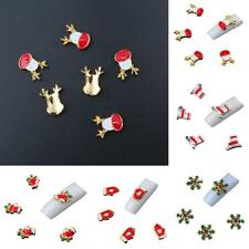 20pcs 3D Christmas Design Alloy Jewelry Nail Art Tips DIY Decoration Sticker