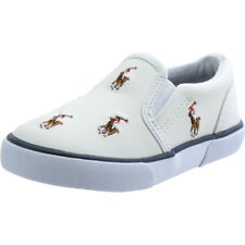 Polo Ralph Lauren Bal Harbour Repeat Multi Pony White Leather Baby Trainers