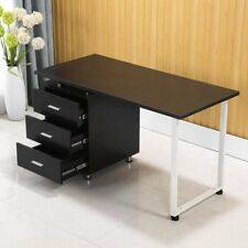 Office Computer Desk Table Home Metal Student Study 3 Drawer ON