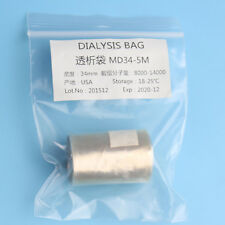 Lab Biochemistry Dialysis Bag 16Feet MD25/34/44/77mm MW 8000-14000
