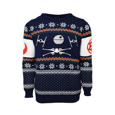 Official X-Wing Vs. Tie Fighter Star Wars Christmas Jumper / Ugly Sweater