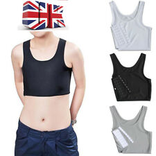 Short Chest Breast Vest Breathable Buckle Binder Trans Lesbian Tomboy Cosplay@