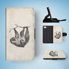 TWO-TOED-SLOTH FLIP WALLET CASE COVER FOR IPHONE 7