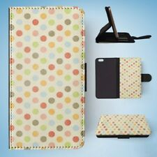 RAINBOW POLKA DOTS PATTERN #4 FLIP WALLET CASE COVER FOR IPHONE 6 PLUS / 6S PLUS