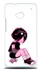 CUTE EMO CHIBI FASHION 4 HARD CASE COVER FOR HTC ONE M7