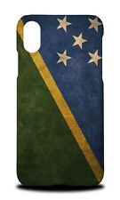 SOLOMON ISLANDS COUNTRY FLAG  HARD CASE COVER FOR APPLE IPHONE X
