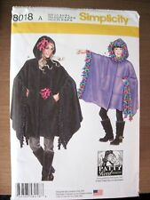 NEW SIMPLICITY SEWING PATTERN J0206 / 8018 CHILD & ADULT FLEECE PONCHOS ALL SIZE