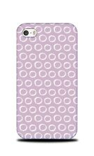 PURPLE CIRCLE PATTERN 32 HARD CASE COVER FOR APPLE IPHONE 4 / 4S