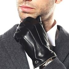 Men's Leather Gloves Touchscreen 9.5 US Size Black