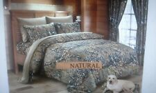 12 PC  NATURAL WOODS  COMFORTER,SHEET AND CURTAIN  SET.   ALL SIZES, 16 COLORS