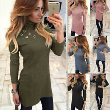 Sexy Slim Long T-shirt Long Sleeve Bodycon High-Necked New Fashion Womens