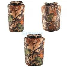 6L 12L 75L Camo Waterproof Dry Carry Bag Storage Sack Pouch Camping Boat Kayak
